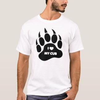 GAY Bear I Heart my Cub Bear Paw T-Shirt