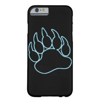 GAY BEAR PAW NEON BLUE BARELY THERE iPhone 6 CASE