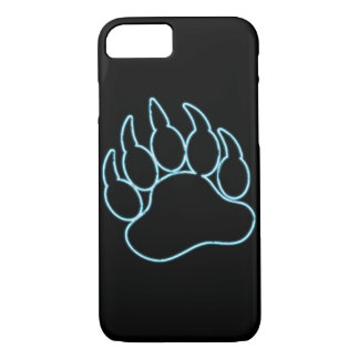 GAY BEAR PAW NEON BLUE iPhone 8/7 CASE