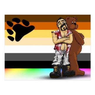 Gay bear Postal flag card