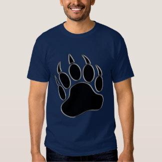 Gay Bear Pride 3D Silver frame Bear paw T Shirts