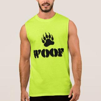Gay Bear Pride Bear Paw WOOF Sleeveless Shirt