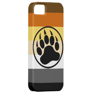 Gay Bear Pride Colors Bear Paw iPhone SE/5/5s Case