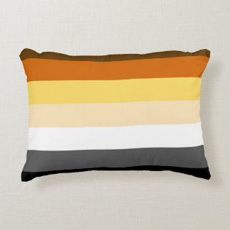 Gay Bear Pride Colors Bear Pride Flag Accent Pillow