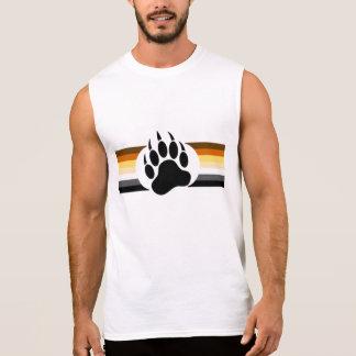 Gay Bear Pride colors stripes and Bear Paw Sleeveless T-shirt