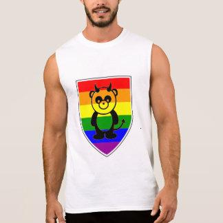Gay bear Pride Cute rainbow Flag panda Sleeveless Shirt