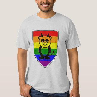 Gay bear Pride Cute rainbow Flag panda T Shirt
