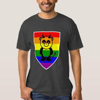 Gay bear Pride Cute rainbow Flag panda Tee Shirt