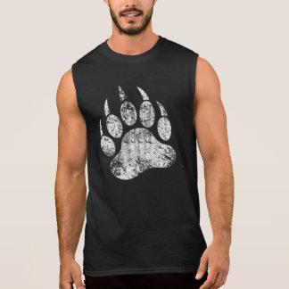 Gay Bear Pride distressed Bear Paw HOT !!! Sleeveless Shirt