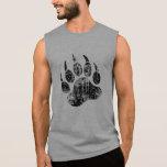 Gay Bear Pride distressed Bear Paw HOT !! Sleeveless T-shirts