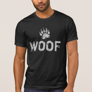 Gay Bear Pride distressed Bear Paw WOOF T-Shirt