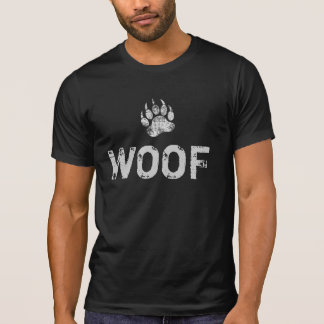 Gay Bear Pride distressed Bear Paw WOOF T-Shirt
