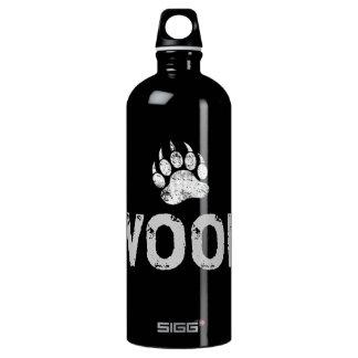 Gay Bear Pride distressed Bear Paw WOOF Water Bottle