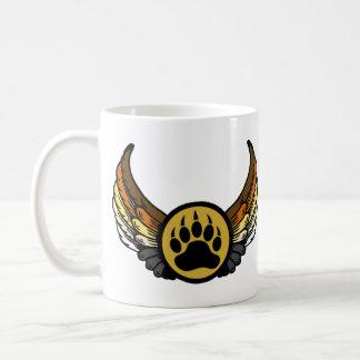Gay Bear Pride Flag Angel Wing Bear Paw Classic White Coffee Mug