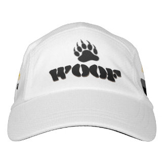 Gay Bear Pride Flag Bear Paw and WOOF Headsweats Hat