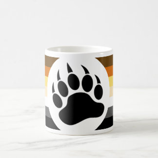 Gay Bear Pride Flag Bear Paw Coffee Mug