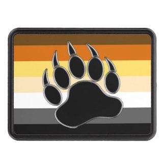 Gay Bear Pride Flag Bear Paw Hitch Cover
