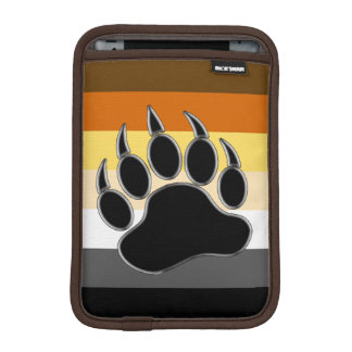 Gay Bear Pride Flag Bear Paw Sleeve For iPad Mini