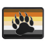 Gay Bear Pride Flag Bear Paw Tow Hitch Covers