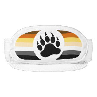 Gay Bear Pride Flag Bear Paw Visor