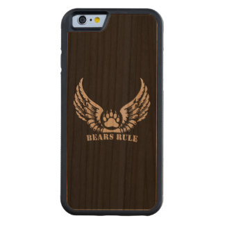 Gay Bear Pride Flag Bears Rule Wing Bear Paw Carved® Cherry iPhone 6 Bumper Case