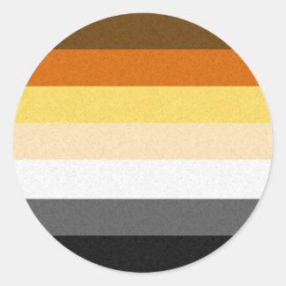 Gay Bear Pride Flag Classic Round Sticker