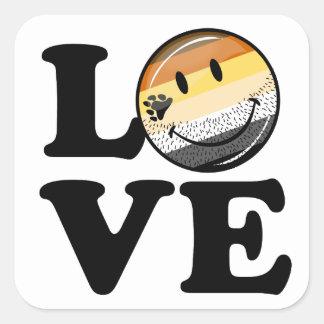 Gay Bear Pride Flag Love Square Sticker