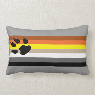 Gay Bear Pride flag pillow.