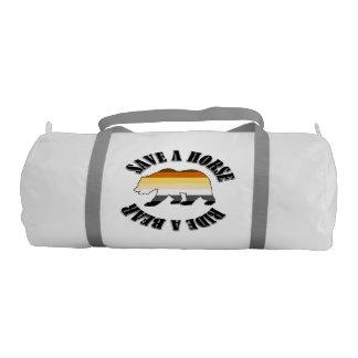 Gay Bear Pride Flag Save A Horse Ride A Bear Duffle Bag