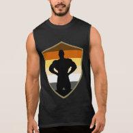 Gay Bear Pride Muscle Bear Shield Sleeveless Shirts