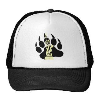 Gay Bear Pride NYC Bear Bear Paw and the liberty Trucker Hat