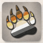 Gay Bear Pride Paw Beverage Coaster