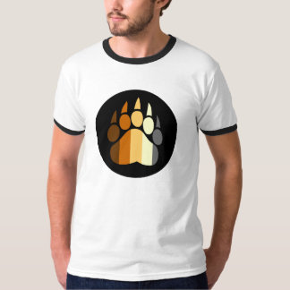 Gay Bear Pride Paw Flag Colors T-Shirt