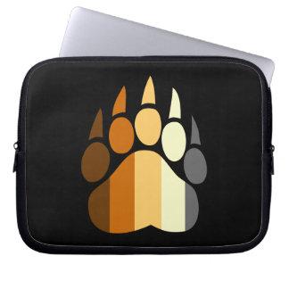 Gay Bear Pride Paw Laptop Sleeve