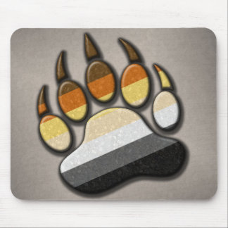 Gay Bear Pride Paw Mouse Pad