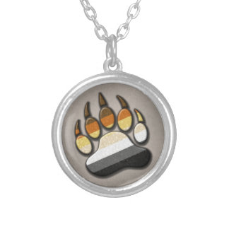 Gay Bear Pride Paw Personalized Necklace
