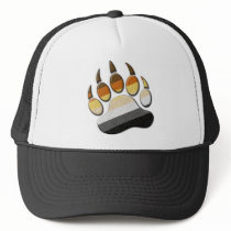 Gay Bear Pride Paw Trucker Hat