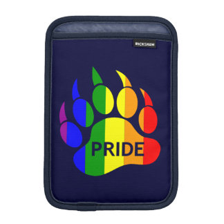 Gay Bear Pride Rainbow Pride Bear Paw Sleeve For iPad Mini