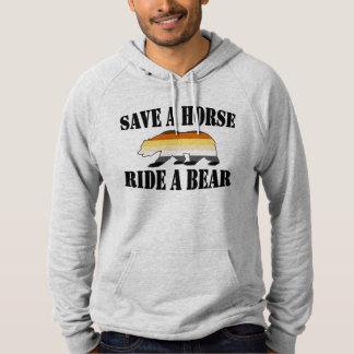 GAY BEAR PRIDE SAVE A HORSE RIDE A BEAR HOODIE