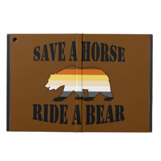 Gay Bear Pride Save A Horse Ride A Bear iPad Air Cases