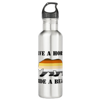 Gay Bear Pride Save A Horse Ride A Bear 24oz Water Bottle