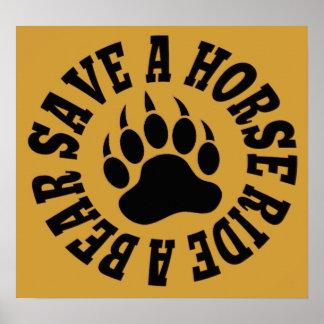 Gay Bear Pride Save A Horse Ride A Bear - Poster