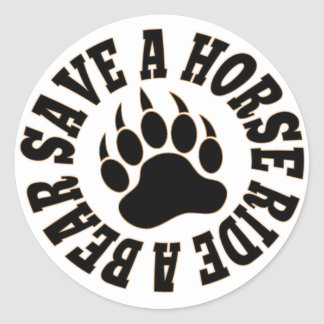 Gay Bear Pride Save A Horse Ride A Bear- Sticker