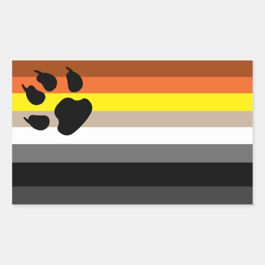 Gay bear pride sticker. rectangular sticker