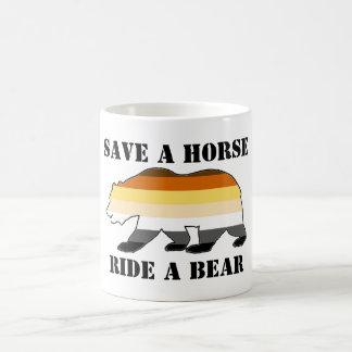 GAY BEAR SAVE A HORSE RIDE A BEAR CLASSIC WHITE COFFEE MUG