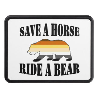 Gay Bear Save A horse Ride a Bear Tow Hitch Cover