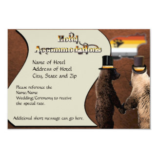 Gay Bear Wedding or Ceremony Accommodations Cards