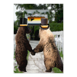 Gay Bear Wedding or Ceremony Custom Invitations