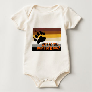 Gay Bear -- Why do you want to know? Baby Bodysuit
