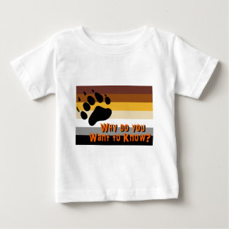 Gay Bear -- Why do you want to know? Baby T-Shirt